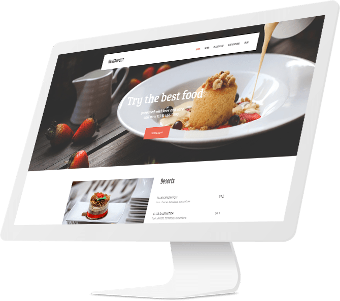 restaurant and bar webpage