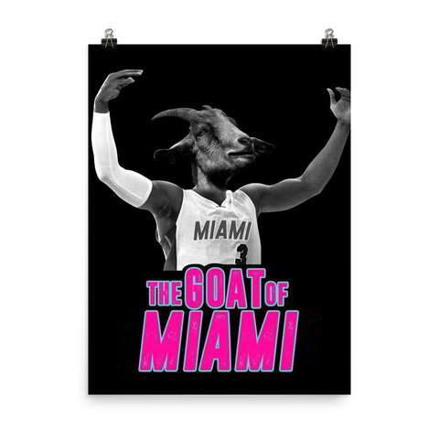 The Goat of Miami Matte Poster