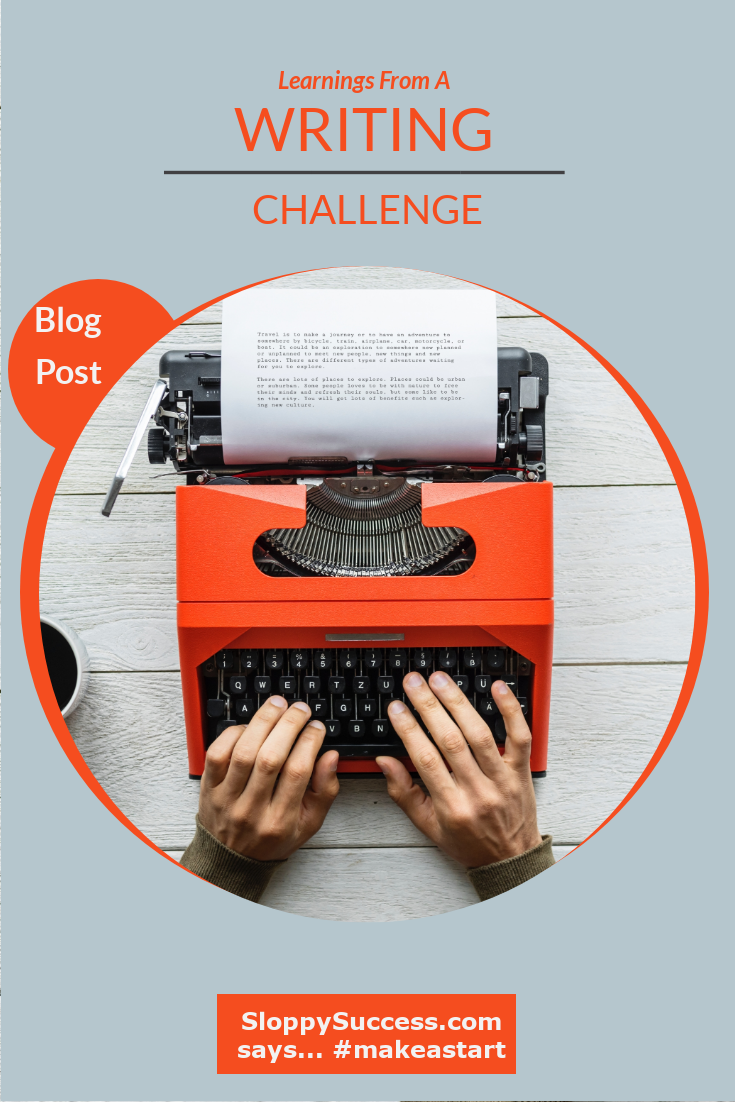 learnings from a writing challenge