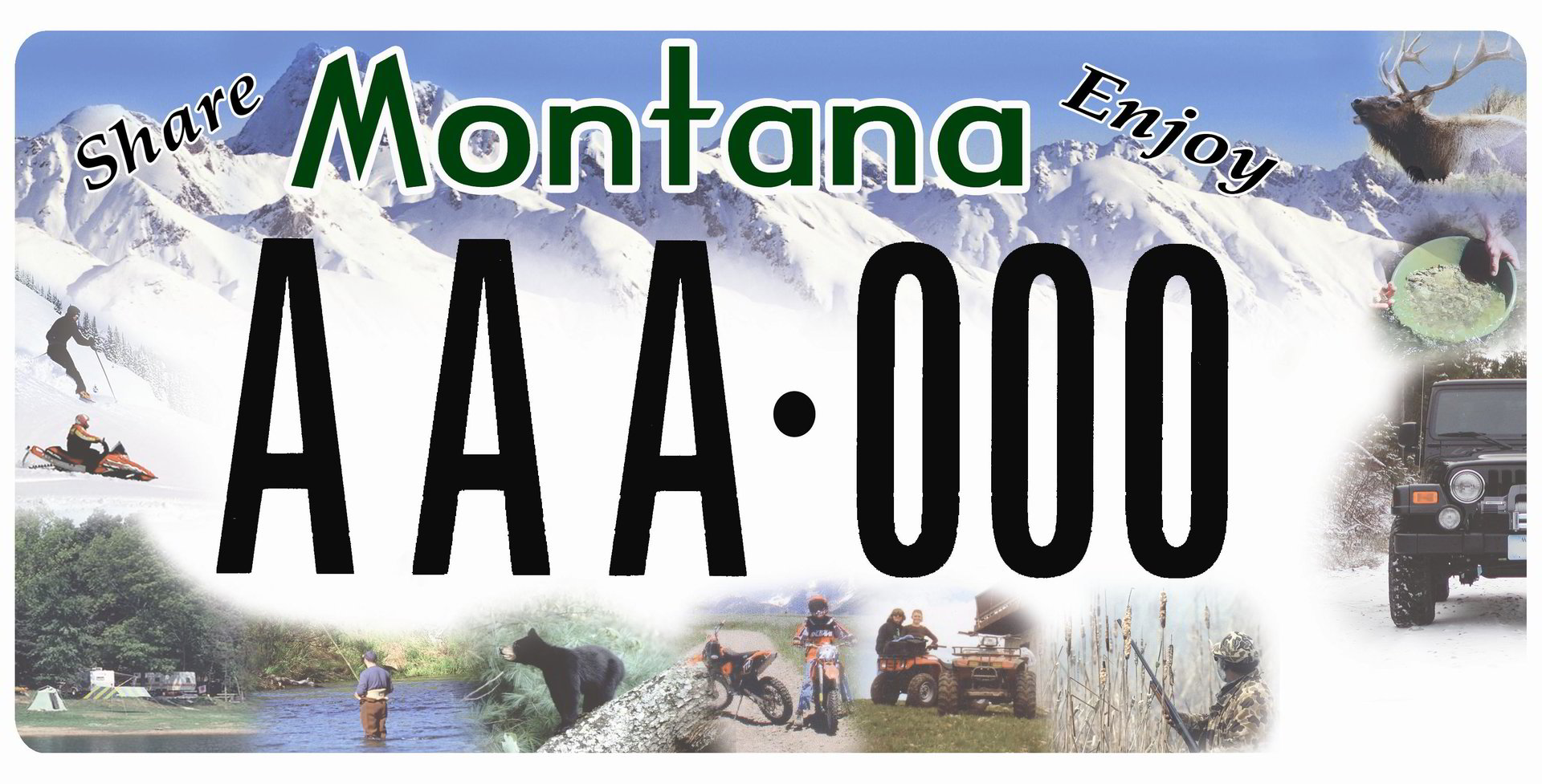 Citizens for Balanced Use License Plate