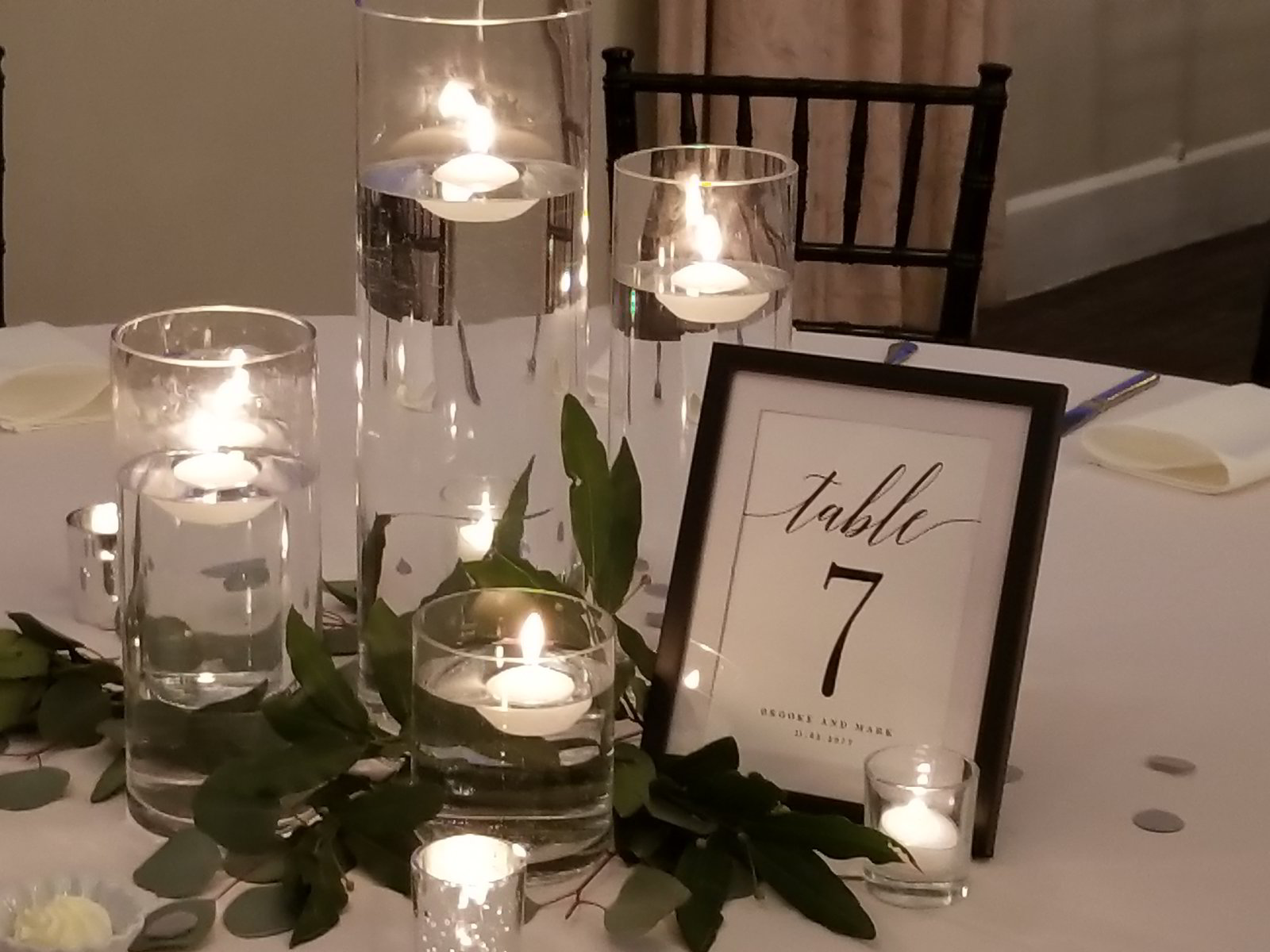 elite weddings and events table set-up