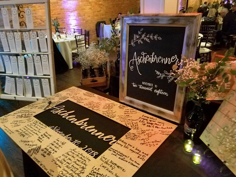 DIY Bride Wedding Guest Welcome Table