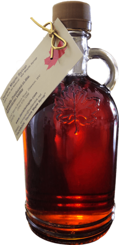 Maple Syrup, Round Glass Bottle 500ml