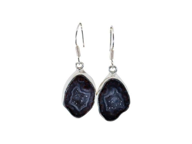 Sterling Silver Geode Earrings