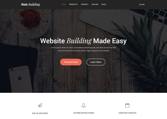 Web Building Theme